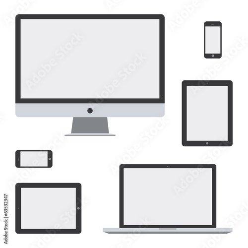 flat design device isolated white background