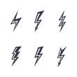lightning silhouettes - 63532580