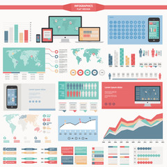 flat design infographics elements