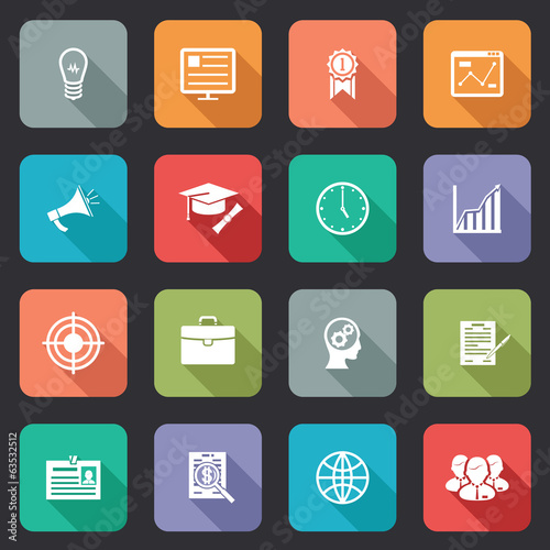 Collection of internet education icons