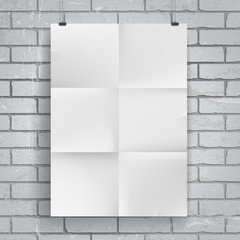 Blank paper poster