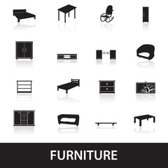 furniture types icons eps10