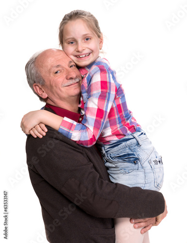 Grandfather with grandaughter
