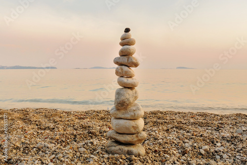 Pyramidal pebble at sunset