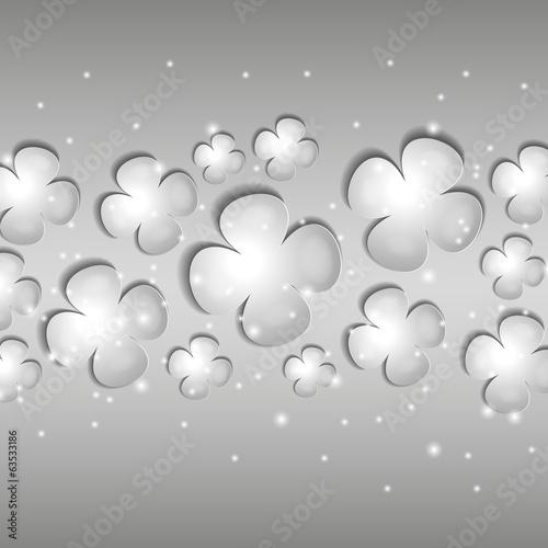 серые цветы на сером фоне