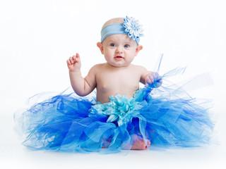 pretty baby girl weared tutu skirt