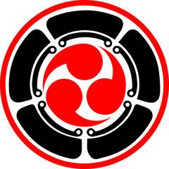 Japan Mitsu Tomoe Symbol - Lotus Blüte