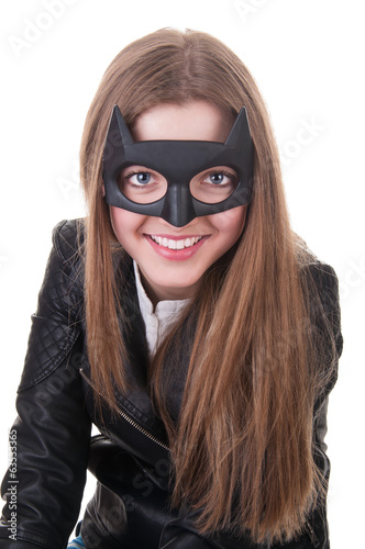 Carnival batman mask: black beauty