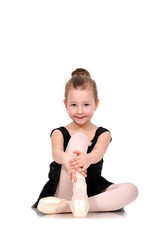 Little smiling ballerina
