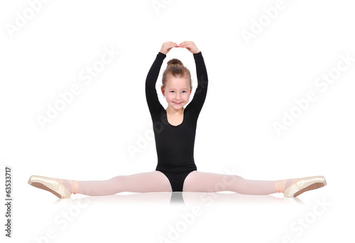 ballerina sitting on floor