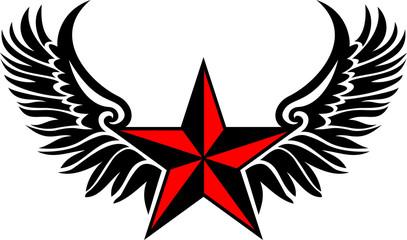 Nautischer Stern - Flügel - Vektor