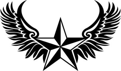 Nautical Star - Tattoo Style
