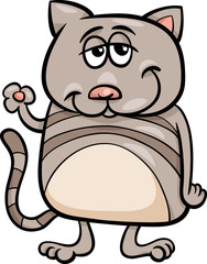 funny cat character cartoon illustration