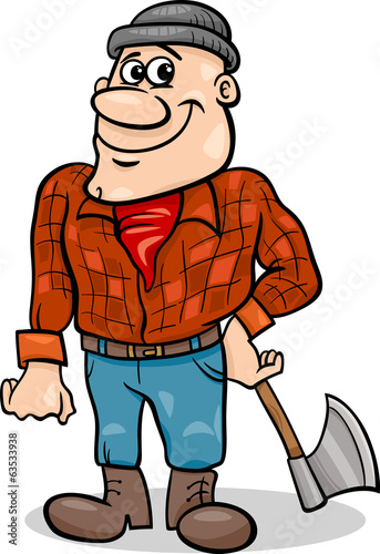 fairy tale lumberjack cartoon illustration