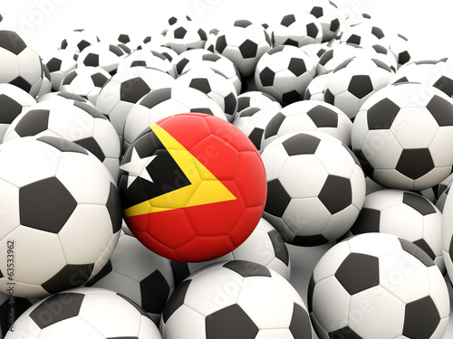 Football with flag of east timor