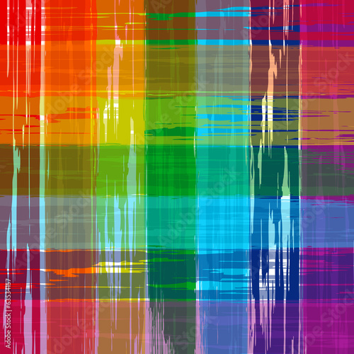 Abstract rainbow color plaid vector background paint
