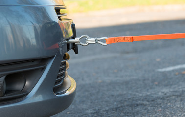 towing hook and orange rope