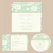 Set of wedding invitation, thank you, RSVP card