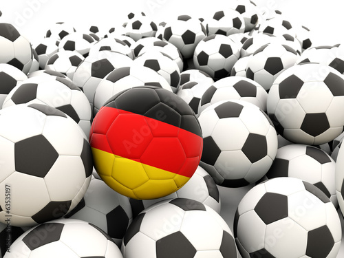 Football with flag of germany