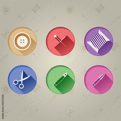 Flat icons for handmade