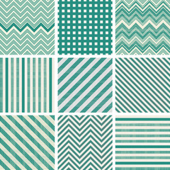 a set of green seamless patterns and textures
