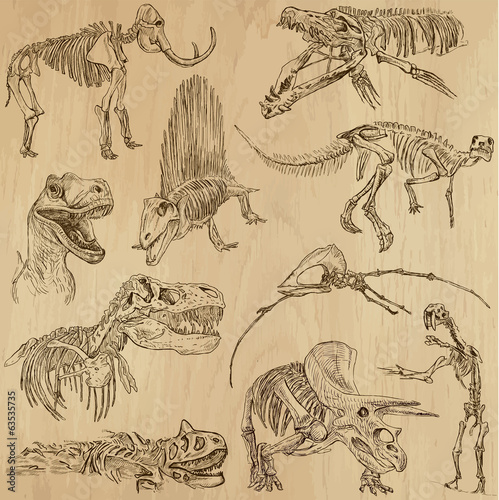 Dinosaurs no.5 - an hand drawn illustrations, vector set
