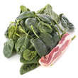 raw spinach and bacon