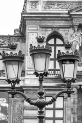 Vintage street lantern in Paris, France