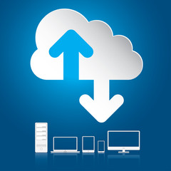 Cloud computing concept. Vector illustration in EPS10.
