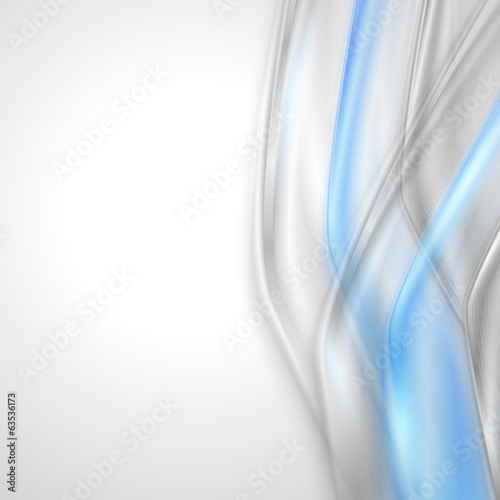 Gray soft abstract background with blue element