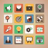 Vector flat icons - internet marketing