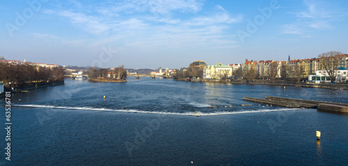 Prague on the banks of the river Vltava.