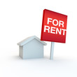 canvas print picture - for rent sign for estate agent