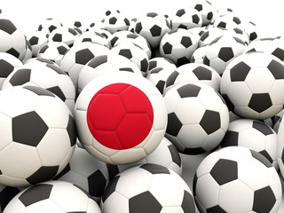 Football with flag of japan