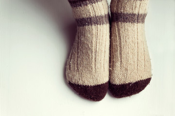 A pair of warm socks