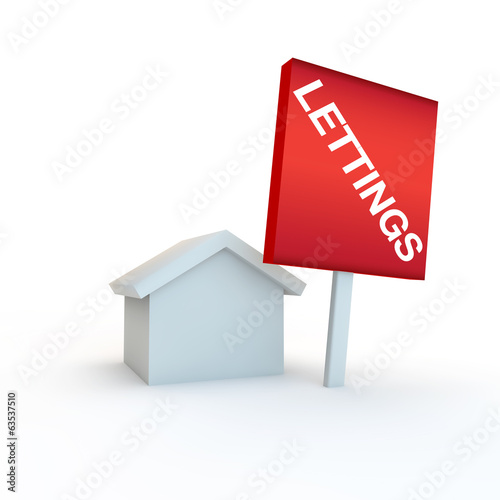 sign for lettings and rent