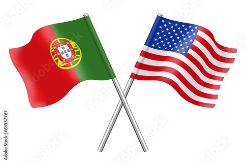 Fahnen: Portugal and the United States