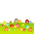 Easter Card Meadow Eggs Color