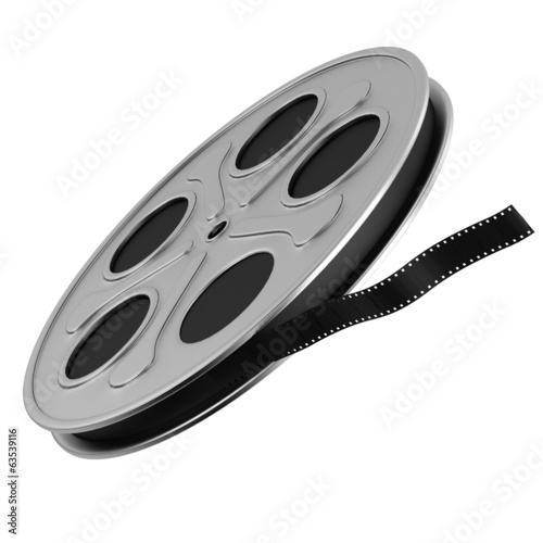 realistic 3d render of film reel