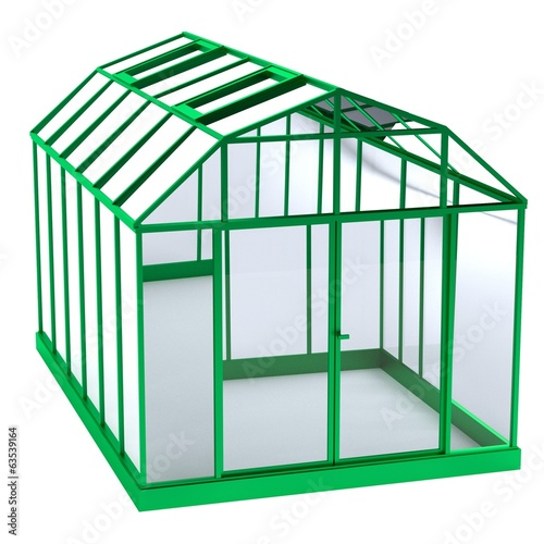 realistic 3d render of greenhouse