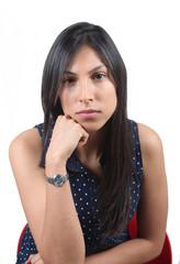 Serious woman portrait
