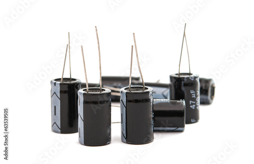 Capacitors isolated