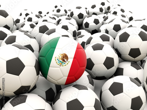 Football with flag of mexico