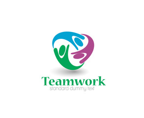 Symbol of Teamwork, isolated vector design