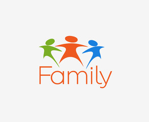 Symbol of Family, isolated vector design