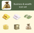 Business and wealth icon set