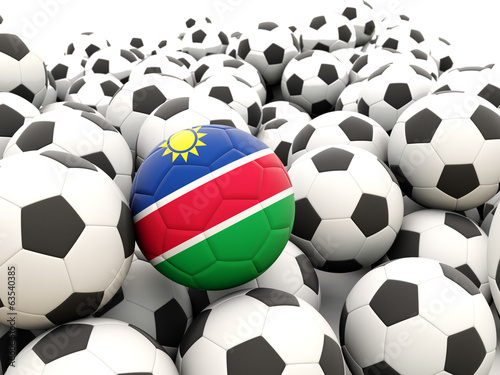 Football with flag of namibia