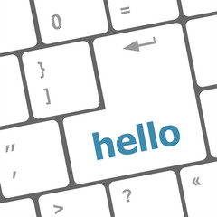 hello written in computer keys