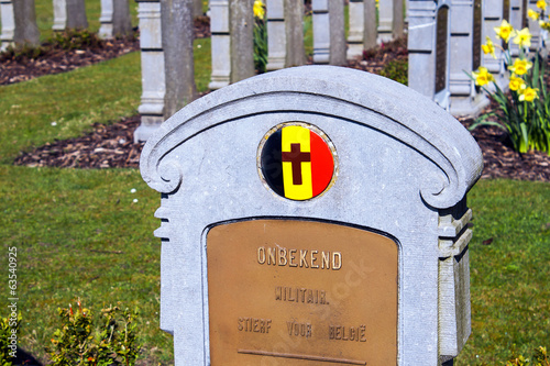 An unknown soldier died for belgium world war 1