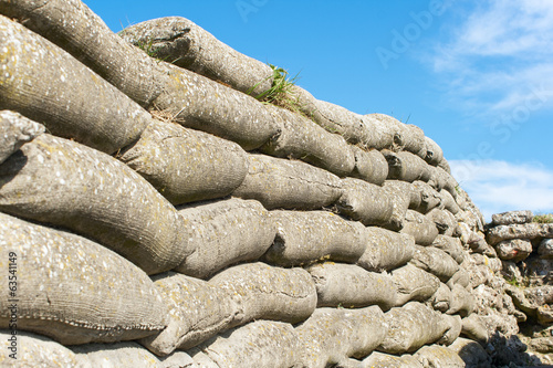sandbags world war 1 trench of death Flanders Belgium